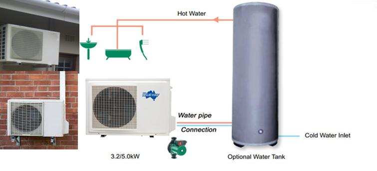 Domestic hot water heat pump manufacturer blueway for Domestic hot water heaters
