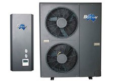Split EVI heat pump